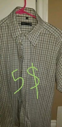 white and green plaid button-up shirt Calgary, T3K 3M7
