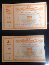 1932 Olympic tickets Baltimore, 21237