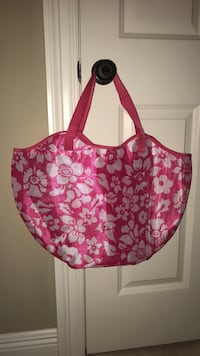 Pink and white floral beach bag Brusly, 70719