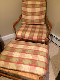 red and white plaid padded armchair Fitchburg, 01420