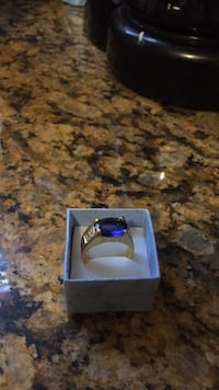 silver and blue gemstone ring Framingham, 01702