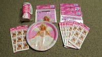 barbie doll print plate and assorted stickers Winnipeg, R2C 2E7