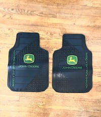 John Deere Vehicle Floor Mats, 2 Front, Rubber