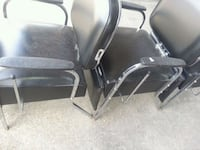 two black leather padded armchairs Houston, 77045