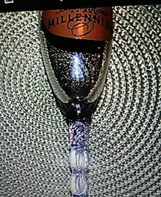 Korbel official champagne of Millennium glass