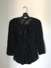 T. Babaton Black Lace Blouse Size Extra Small Burnaby, V5C 2J9
