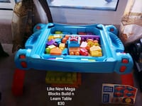 Like New Mega Blocks Build n Learn Table - $30 Toronto, M9B 6C4