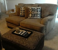 Cozy loveseat with Matching Chairs & Ottomans