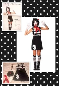 "LEG AVENUE* brand ""MISS MIME!"" Cute Women's costume women's size Medium. NEW!  Carrollton, 75007"