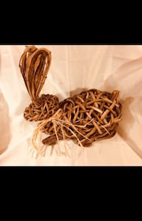 Custom Woven Tree Bark Rabbit Bear, 19701