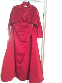 red and black long sleeve dress Stafford, 22556