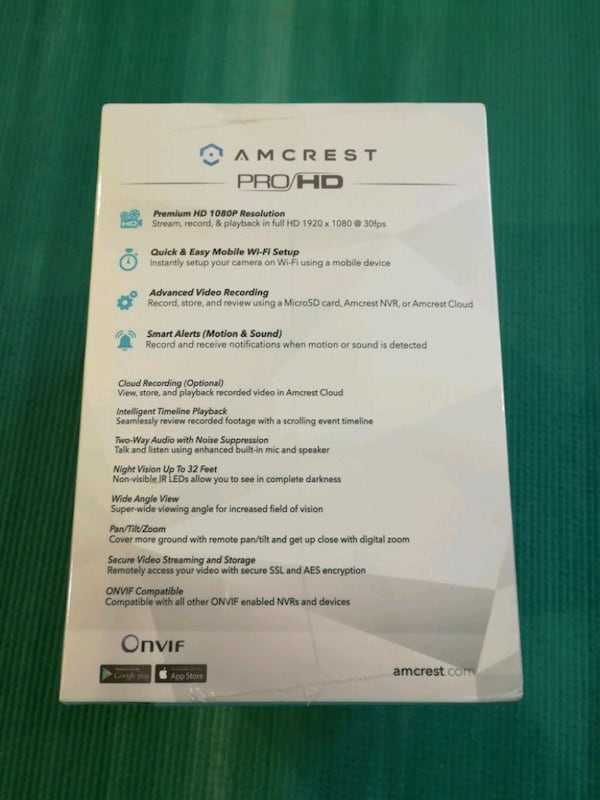 Amcrest ProHD WiFi security wireless IP camera 92e479da-2011-4112-bac1-7e5b547b8aea