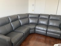 2xReclining L Shaped (Sectional) Leather Couch For SALE MONTREAL