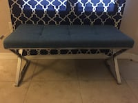 Blue bench with chrome frame Orlando, 32839