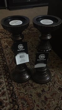 """Two candle stand  14"""". New--bought but didn't used. Horsham, 19044"""