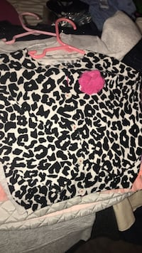 black and white leopard print button-up blouse 49 km