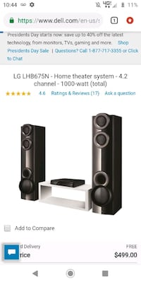 Lg 1000wat surround sound home theater Muncy, 17756
