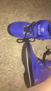 pair of blue Timberland work boots Houston, 77015