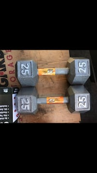 Brand new pair of 25lbs dumbbells