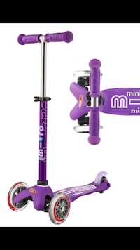 Micro 3 wheelMini Deluxe scooter purple
