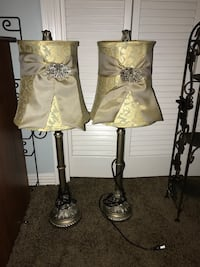 two brown-and-white table lamps Spanish Fort, 36527