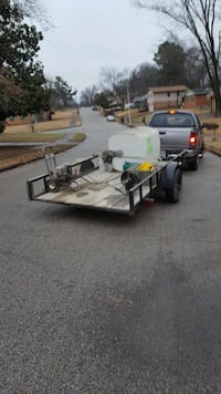 Brown wooden flat bed trailer/ w 200 gallon pressure washer outfit. Memphis, 38134