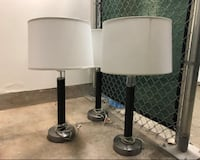3 lamps with white lampshades Culver City