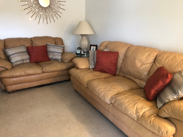 Prime Leather Sofa Set Of Two Table Lamp And Decorations Moving Must Sell Asap Lamtechconsult Wood Chair Design Ideas Lamtechconsultcom
