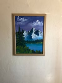 Original oil painting on canvas with frame 18 by 24 Mount Pleasant, 29464