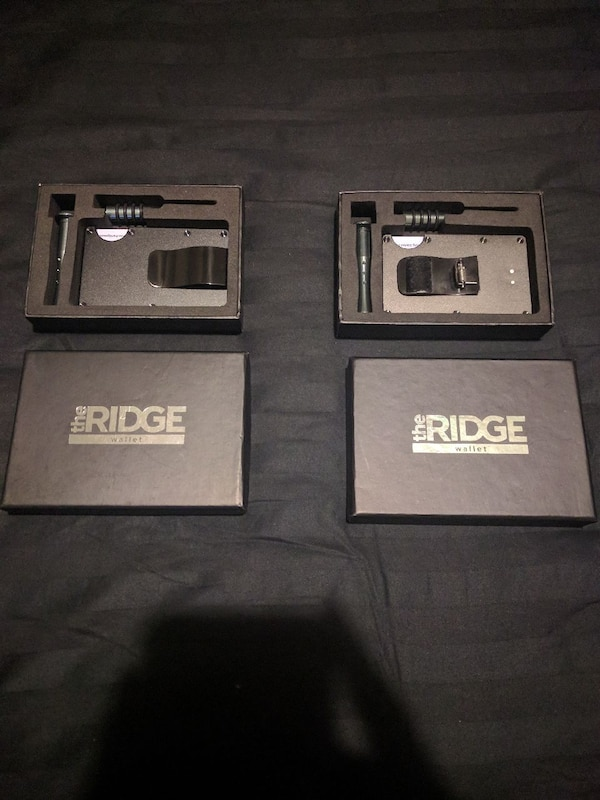 Ridge Wallets! One Black, One Grey w/o money clip