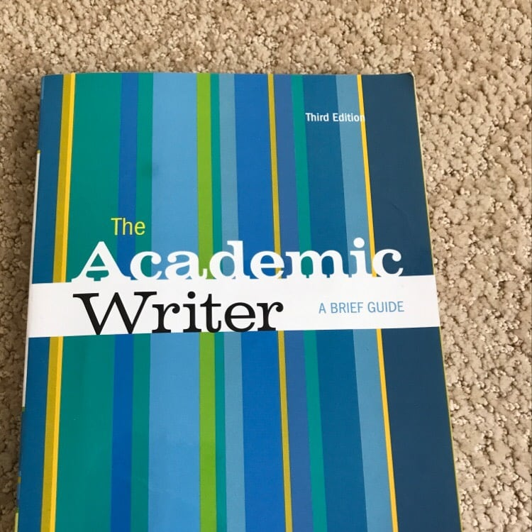 The academic writer a brief guide third edition