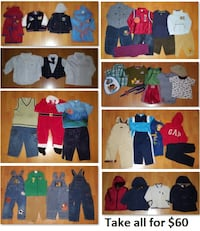 18 Mths Baby Boys Clothing Lot 2 (Take all 46 Pieces for $60) Mississauga