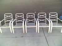 5 metal patio chairs