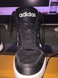 pair of black-and-white Adidas sneakers Toronto, M3L 1A4