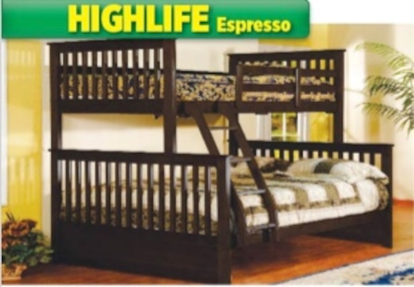 Used Black Friday Sale Twin Over Full Solid Wood Bunk Bed