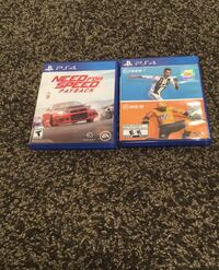 Need for speed payback and FIFA19 and NHL19 for PS4 *almost brand new*