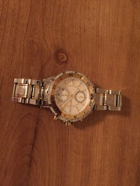 Silver link and framed chronograph watch Oxon Hill, 20745