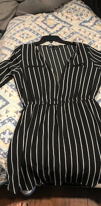 Black and white stripe long-sleeved shirt Montgomery, 77356