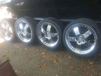 Tires and rims 5x114.3 fits my Camry but came out of BMW 18in