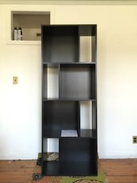 black wooden 5-layer shelf BROOKLYN