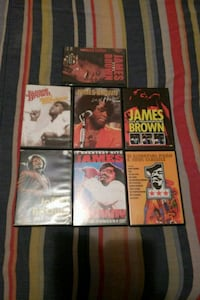 I have 7 James Brown DVD's in concert Upper Marlboro, 20772