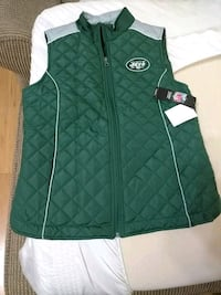 New green and white zip-up vest Levittown, 11756