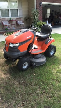orange and black ride on mower Lincoln, 35096