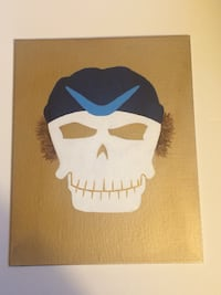Suicide squad skull captain boomerang painting
