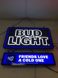 Bud light  LED Neon Sign Newton, 02464