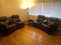 black leather sofa set with coffee table Tampa, 33616