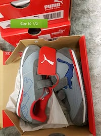 gray-and-red Nike basketball shoes with box Brampton, L6T 4R1