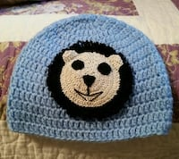blue, black, and brown knit beanie Phenix City, 36867