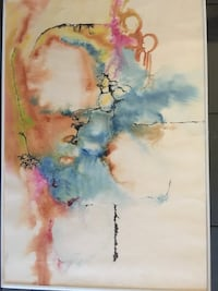 Original signed water colour mid century Vancouver, V5X