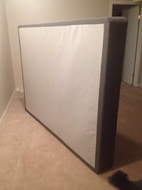 White and gray box spring for mattress queen size